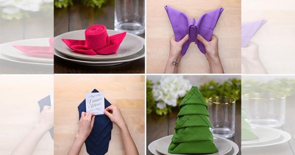 ワンランク上の食卓に!テーブルナプキンの素敵な折り方10選