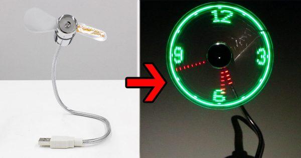 【今日のひまつぶし】こども心をくすぐる!扇風機型LED時計を使ってみた