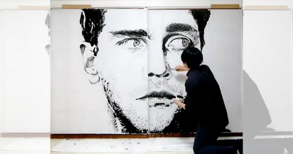 世界が驚愕!墨だけで多彩な作品を描く日本人アーティストに絶賛の嵐!