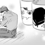 おじさまと猫第21話。奥さんを思い出してふくまるを抱きしめるおじさまが切なくも愛おしい