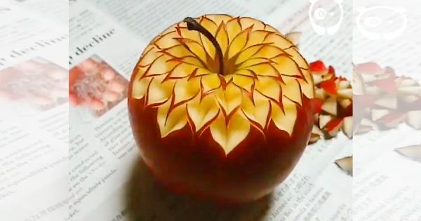 世界で150万再生!野菜や果物に施したデザインカットが美しいと話題