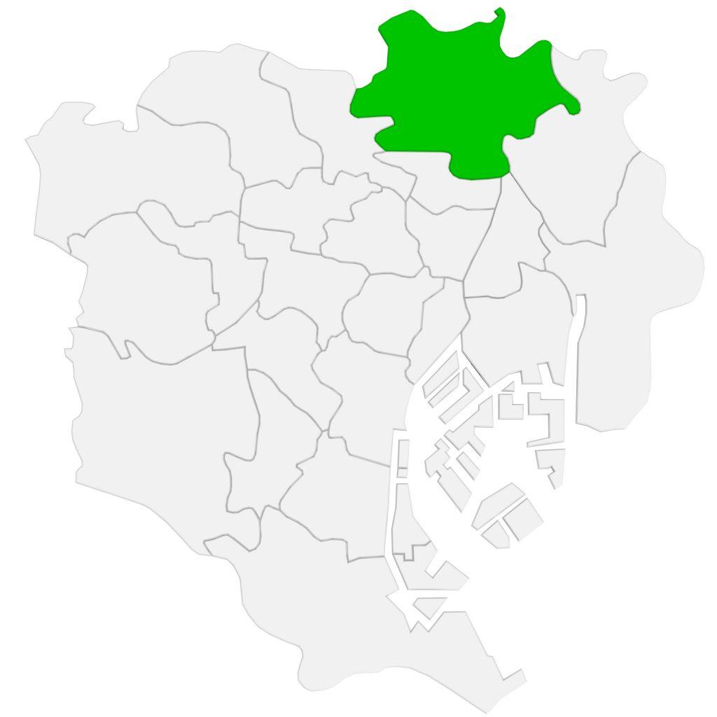 足立区の位置