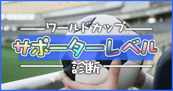 【サッカーワールドカップ】マナー守って楽しもう!サポーターレベル診断