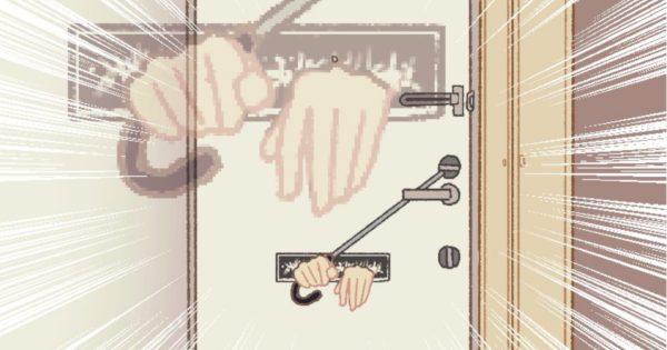 「カチャカチャ」深夜3時、不審な物音に玄関を見ると…