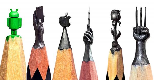 鉛筆の先の繊細すぎるミニチュアアートが話題!器用な指先で芯を削り、極小の彫刻を作る