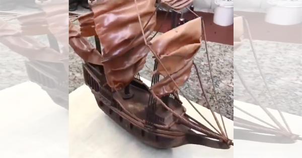 ラスベガスのパティシエがチョコレートだけでリアルな帆船を作り上げる!さらに驚愕の展開に