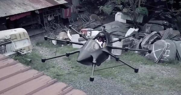 これぞ未来の乗り物!空飛ぶクルマは巨大なドローン!? フィリピン人発明家が開発