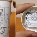 ドラえもんの漫画が動く!紙コップだけで作り上げるアート作品が秀逸すぎて唸る