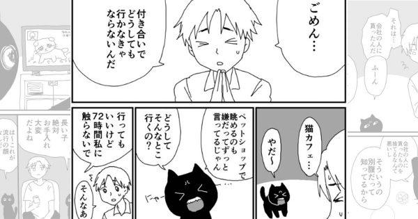 種族を超えたベストカップル!嫉妬が超かわいい黒猫と飼い主のゆるい日常に癒される