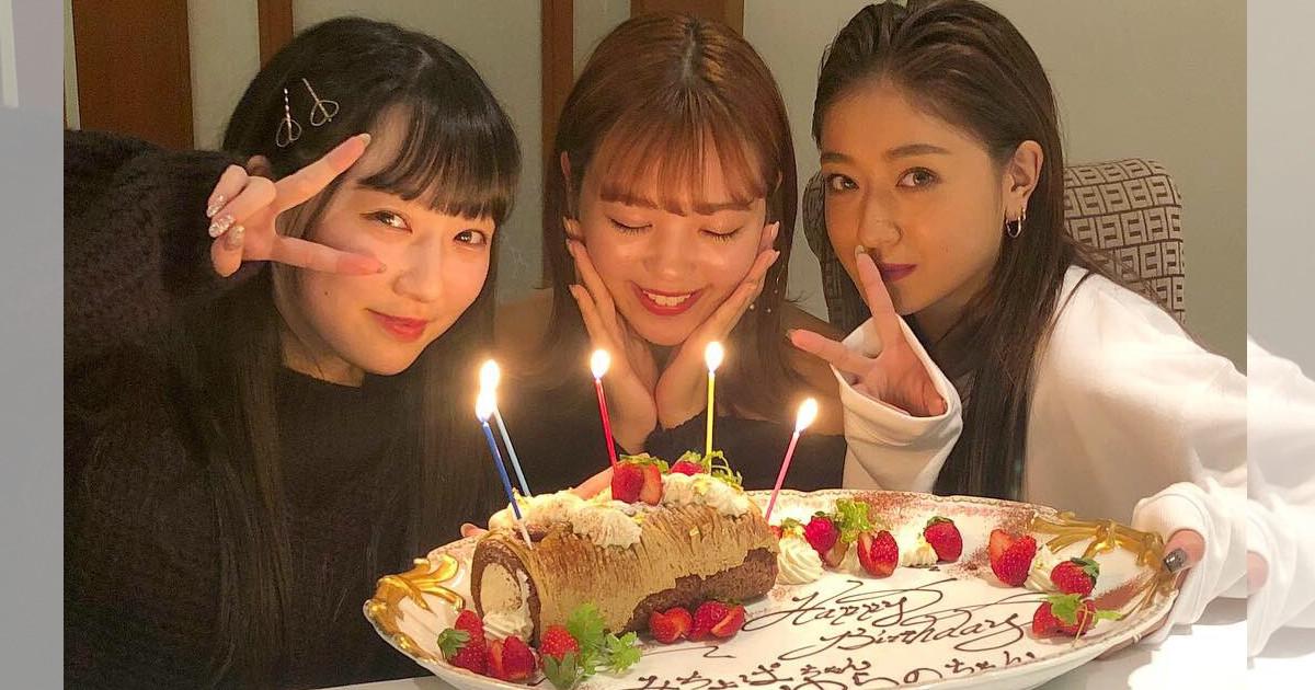 「2人にはまだお酒は早い様子でした」藤田ニコル、 みちょぱ&越智ゆらのの20歳の誕生日を祝福!