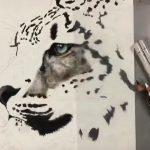 これは天才高校生だ…色鉛筆で描かれたユキヒョウがリアルすぎてヤバい