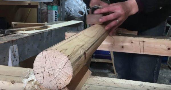 これぞ日本の伝統芸!何の変哲も無い木に宮大工職人が命を吹き込む