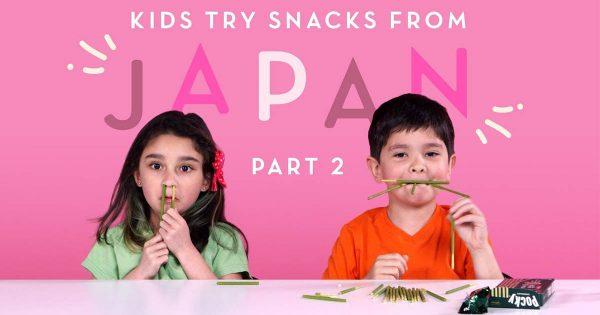 初めて食べる「日本のおやつ」に感動する海外の子どもたちの驚く様子がオモロ可愛い