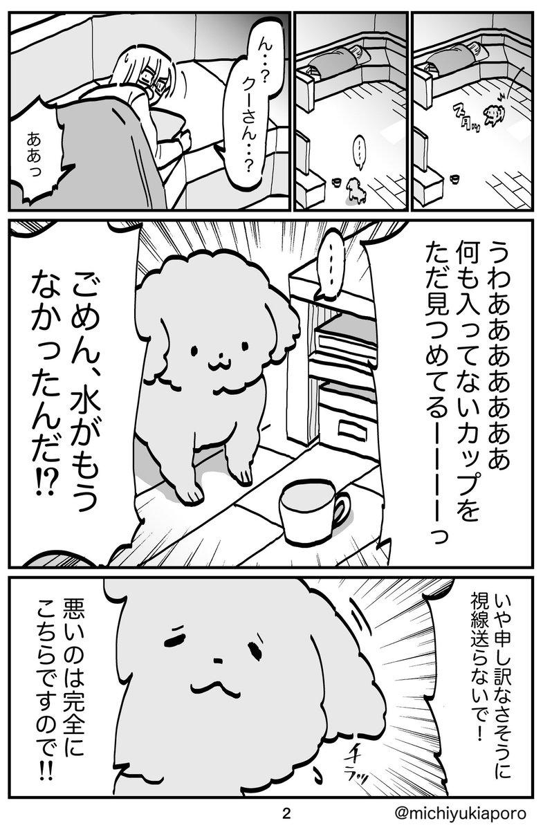 体調悪い飼い主に気を使う犬02