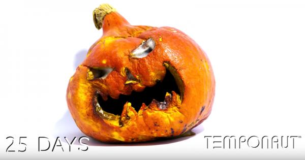 不気味だけど観ちゃう!3ヶ月放置されたかぼちゃランタンが衝撃的