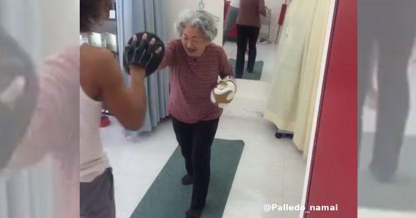 ボクシングジムに通うおばあちゃんに勇気づけられる