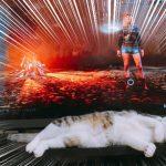 ゲームの邪魔をする猫に「どいて!」と言ったところ...