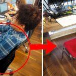 【隠し撮り】ゲーム好きな同僚の席を「ゲーセンの椅子」にしといた