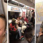 ニューヨークの電車くっそ楽しそうww 陽気な合唱が突然始まる