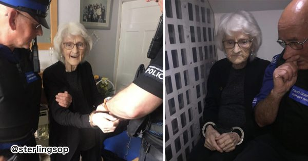 93歳おばあちゃん「死ぬまでに一度逮捕されてみたい」→ 警察が夢を叶える👮♂️