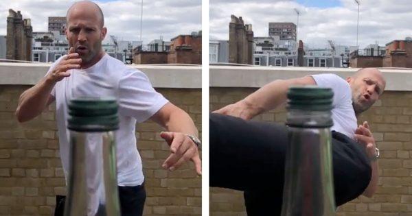 ジェイソン・ステイサムも神業披露!今話題のボトルキャップ・チャレンジとは?