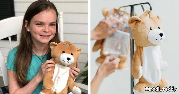 12歳の少女による「クマの点滴袋カバー」が素敵すぎる🐻