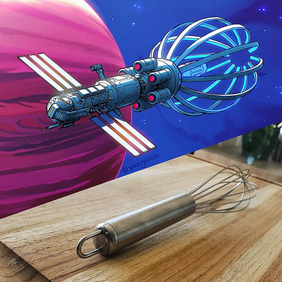 泡立て器が宇宙船になったら