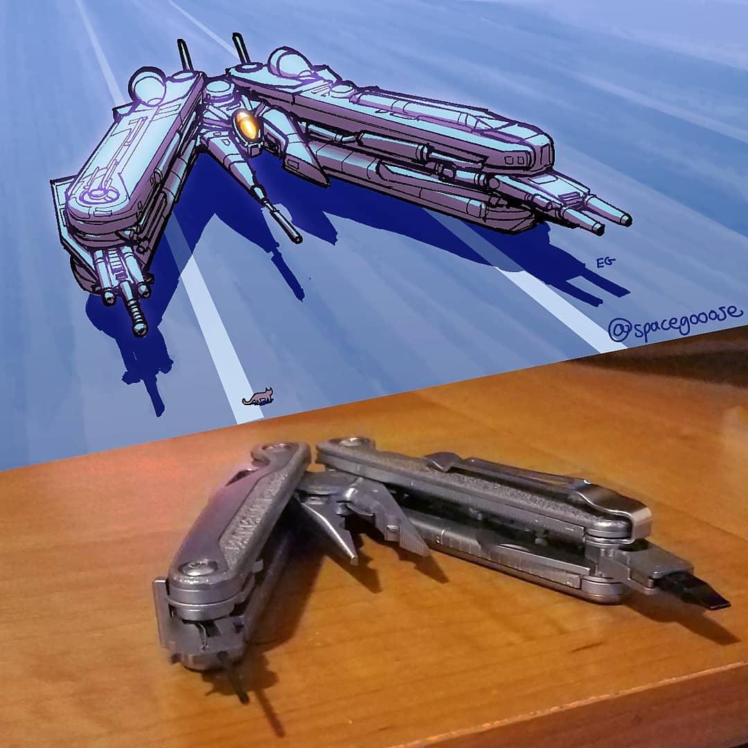 十徳ナイフが宇宙船になったら