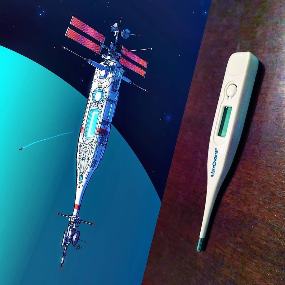 体温計が宇宙船になったら