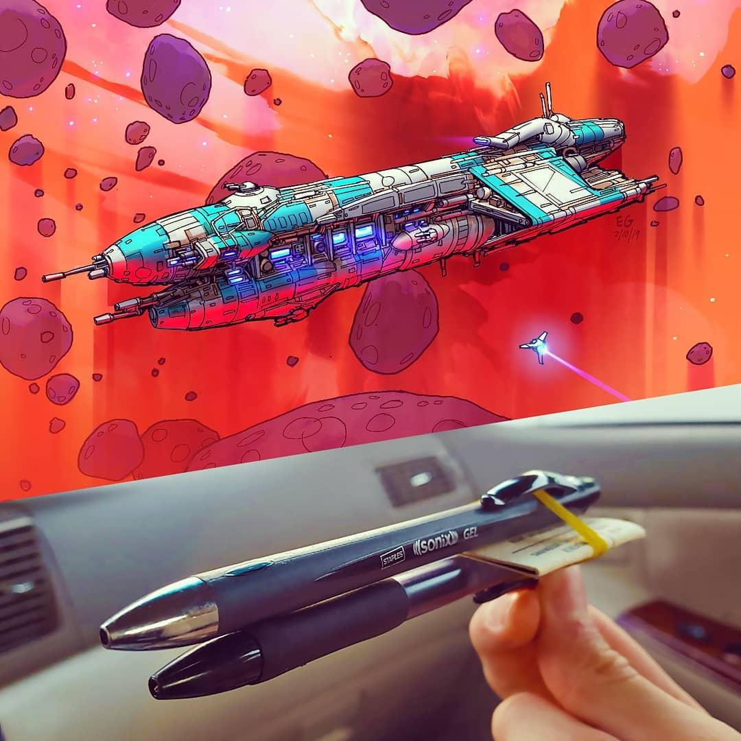 ボールペンが宇宙船になったら