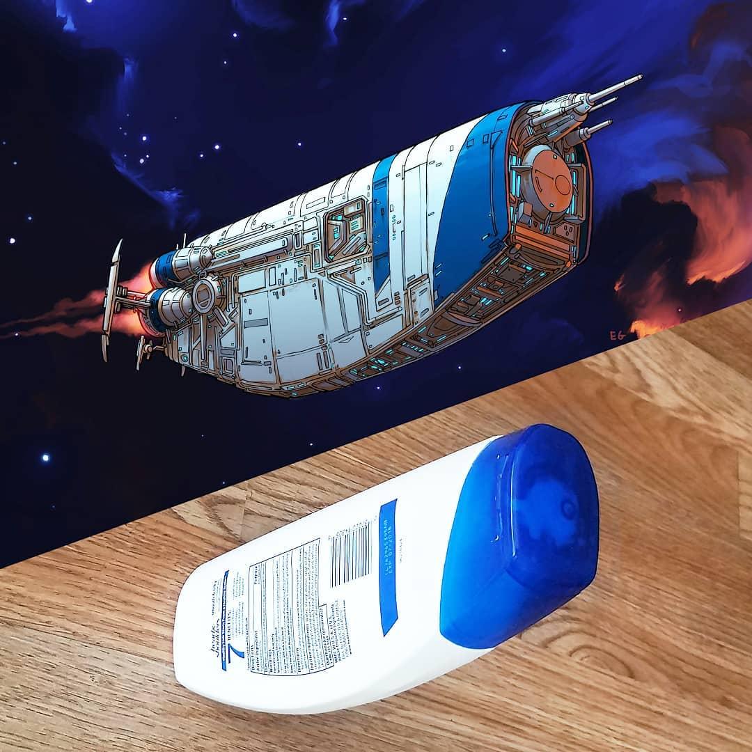 プラ容器が宇宙船になったら