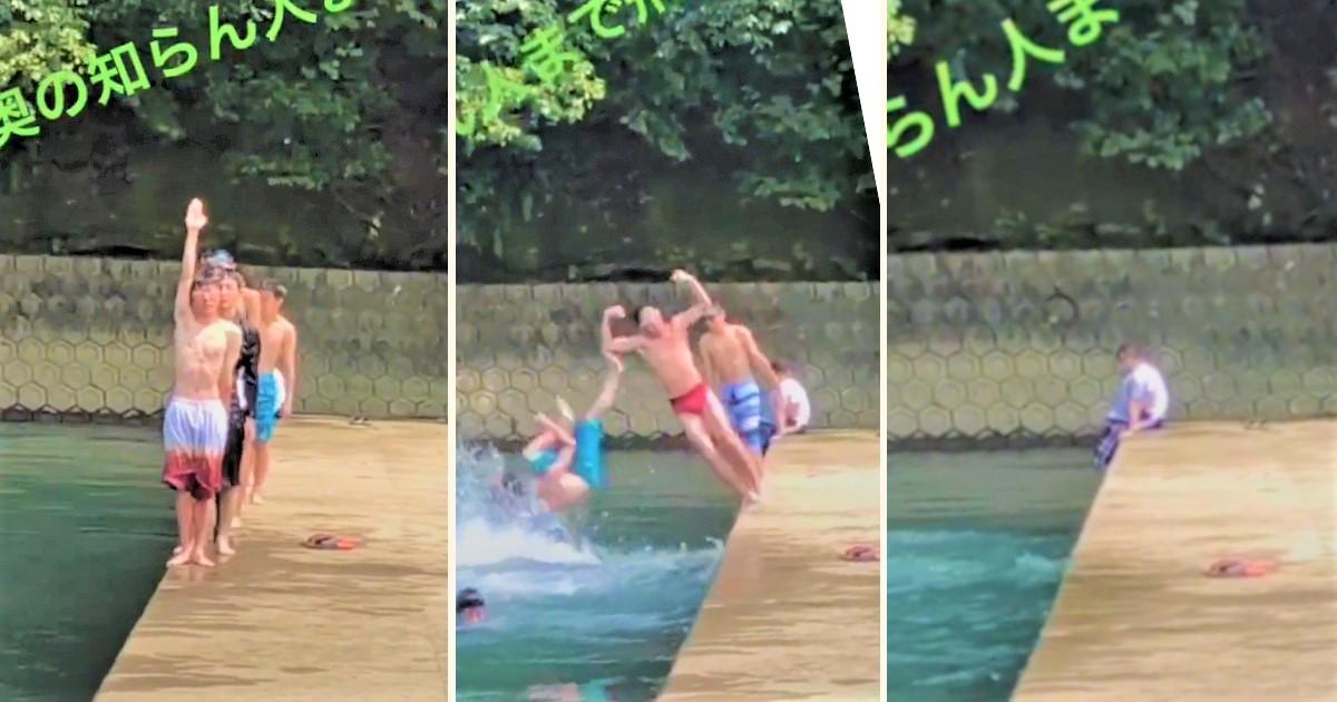 水遊び中に起きた「まさかの事態」に笑ったww