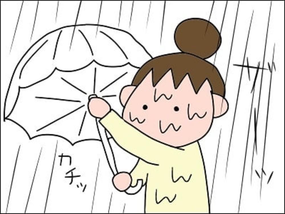母 帰り道 雨 走る 車 不審者 親切 善意 傘