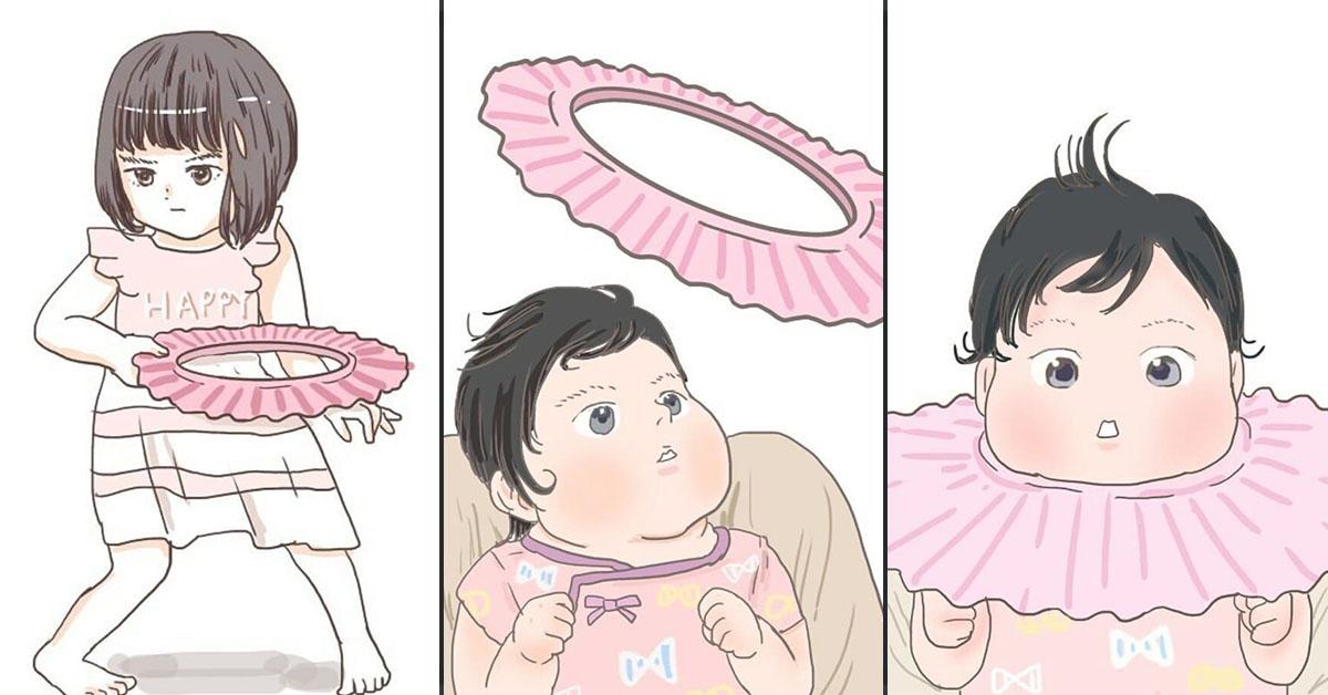 3歳娘よ、妹で輪投げをするのはやめてください…