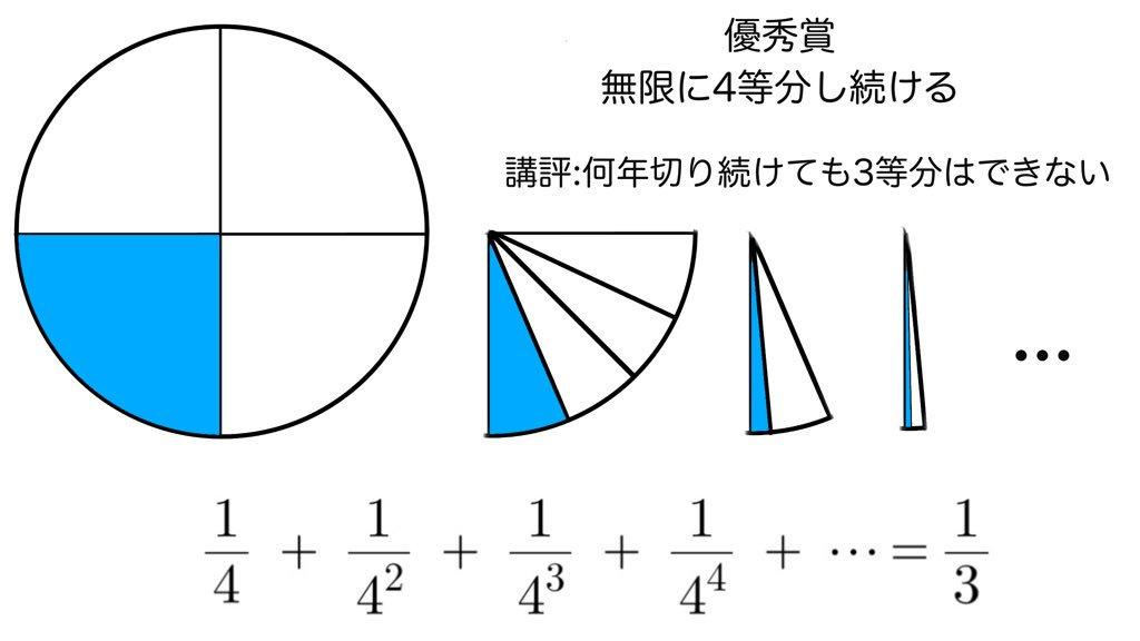 数学 ケーキ 3等分 理系