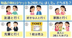 【心理テスト】無料の映画券を2枚もらったら、あなたはどうする?