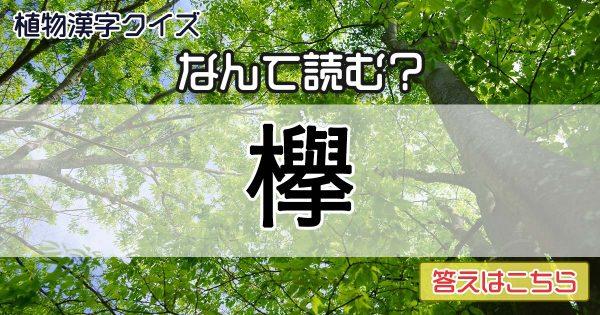 ラスト読めたら最強!植物を漢字で書くとめちゃくちゃ難しい