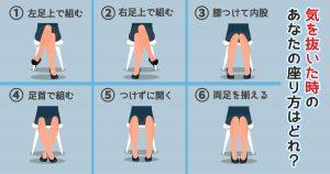 【心理テスト】無意識な座り方でわかる「あなたの性格説明書」