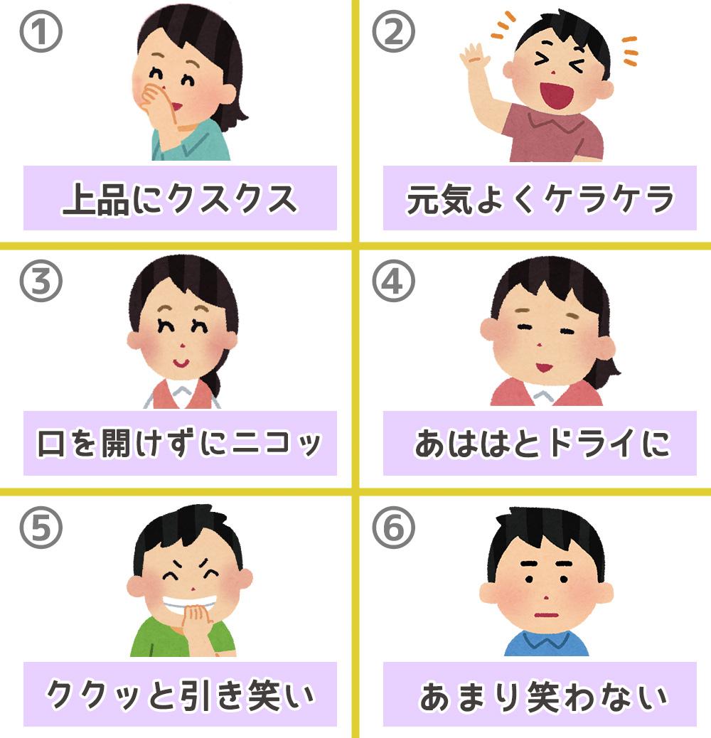 笑い方 性格 心理テスト