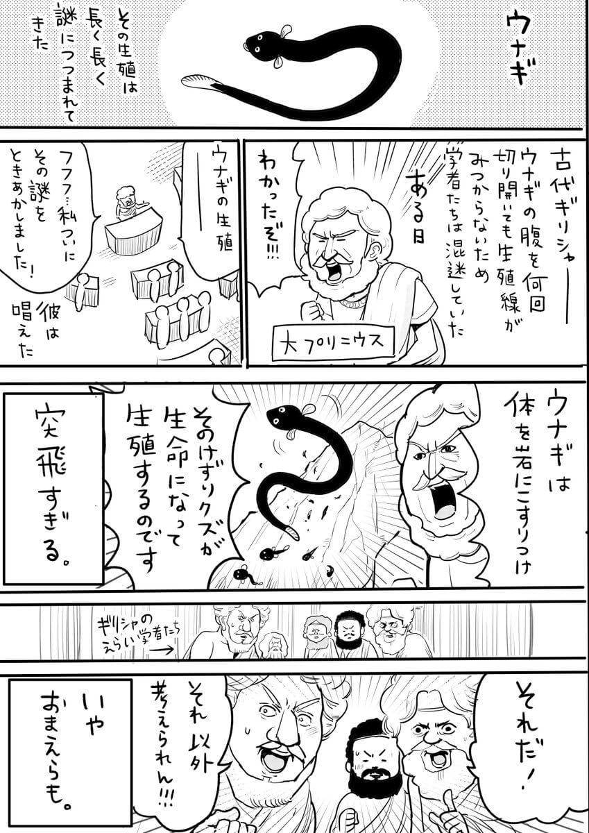 うなぎの研究の歴史01