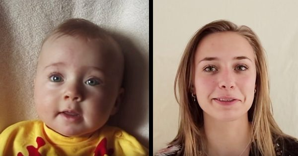 赤ちゃんが美女に!娘が生まれてから毎週撮影し、20歳の誕生日に完成したタイムラプス動画が愛しか感じないと話題に!