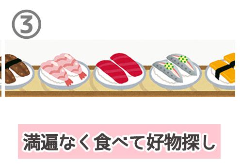 回転寿司 恋人の探し方 心理テスト 満遍なく