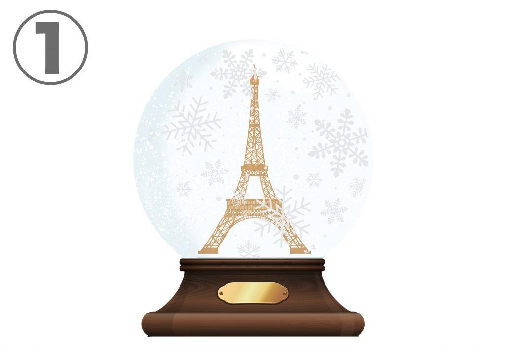 Christmas empty snow globe