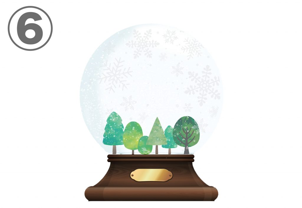 Christmas empty snow globe
