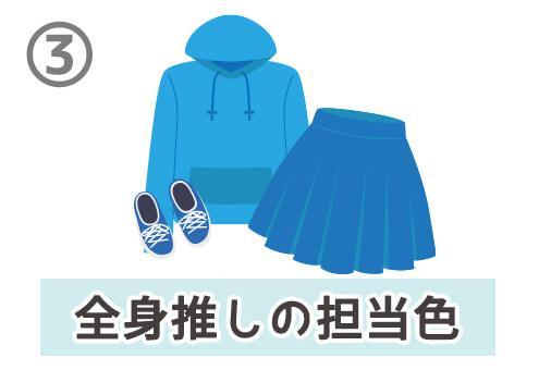 オタク 参戦服 服装 ライブ イベント 性格 心理テスト 推し色
