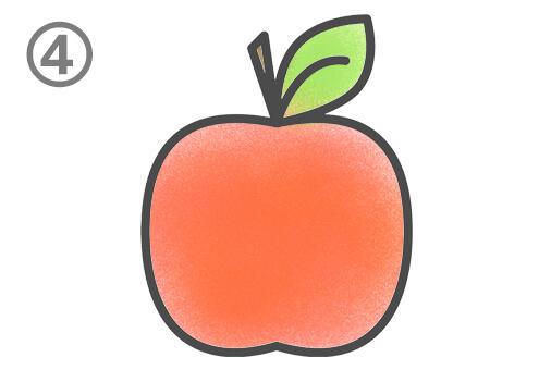 イラスト リンゴ 塗り方 飲食店 心理テスト