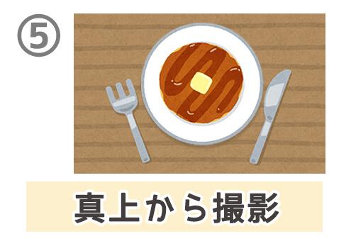食べ物 写真 顔文字 性格 心理テスト 真上から撮影