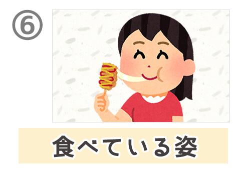 食べ物 写真 顔文字 性格 心理テスト 食べている姿