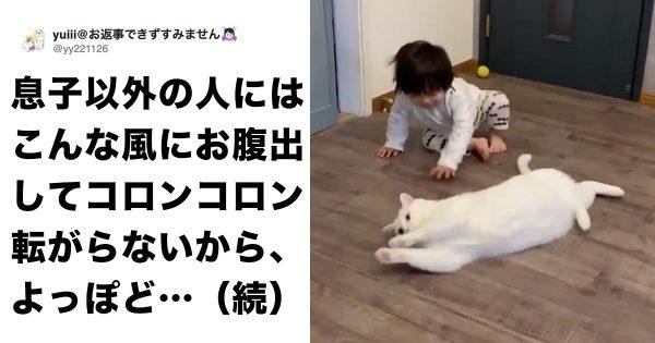 「息子に愛情表現」するネコが愛おしすぎて、胸が...