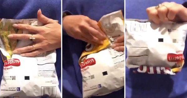 ポテチの袋を密閉する「裏ワザ」に30万いいね